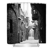 Jerusalem: Winter Shower Curtain by Granger