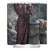 Jesus In Prison Shower Curtain by Tissot