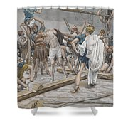 Jesus Stripped of His Clothing Shower Curtain by Tissot