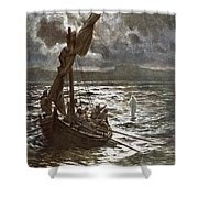 Jesus Walking Upon The Sea Shower Curtain by William Brassey Hole