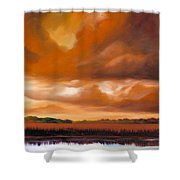 Jetties On The Shore Shower Curtain by James Christopher Hill