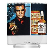 Jim Beam Ad, 1966 Shower Curtain by Granger