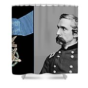 J.L. Chamberlain and The Medal of Honor Shower Curtain by War Is Hell Store