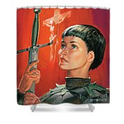 Joan of Arc Shower Curtain by James Edwin McConnell
