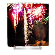 Joe's Fireworks Party 1 Shower Curtain by Charles Harden