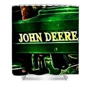 John Deere 2 Shower Curtain by Cheryl Young