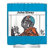 John Elway 2 Shower Curtain by Jeremiah Colley