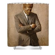 John F Kennedy Shower Curtain by War Is Hell Store