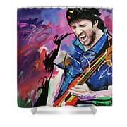 John Frusciante Shower Curtain by Richard Day