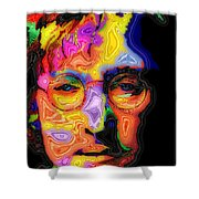 John Lennon Shower Curtain by Stephen Anderson