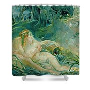 Jupiter And Callisto Shower Curtain by Berthe Morisot