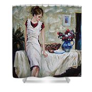 Just The Next Day Shower Curtain by Sergey Ignatenko