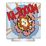 Ka-booom Shower Curtain by Gary Grayson