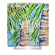 Kaimana Beach Shower Curtain by Julie Kerns Schaper - Printscapes
