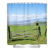 Kamuela Pasture Shower Curtain by David Cornwell/First Light Pictures, Inc - Printscapes