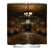 Karma Winery Cave Shower Curtain by Brad Granger