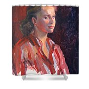 Kate Shower Curtain by Dianne Panarelli Miller