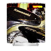 kawasaki Shower Curtain by Stylianos Kleanthous
