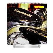 Kawasaki Shower Curtain by Stelios Kleanthous