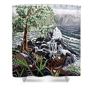 Keanae Shower Curtain by Fay Biegun - Printscapes