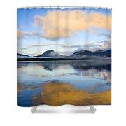 Ketchikan Sunrise Shower Curtain by Mike  Dawson