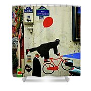 Kick In The Head Shower Curtain by Skip Hunt