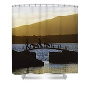 Killarney Golf Club, Lough Leane, Co Shower Curtain by The Irish Image Collection