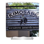 Kimosabe Shower Curtain by Mary Rogers