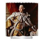 King George IIi Shower Curtain by Allan Ramsay