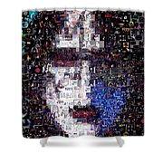 Kiss Ace Frehley Mosaic Shower Curtain by Paul Van Scott