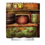 Kitchen - Food - The Cake Chest Shower Curtain by Mike Savad