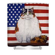 Kitty Ross Shower Curtain by Linda Mears
