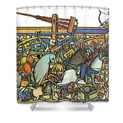 Knights Templar 13th Century Shower Curtain by Photo Researchers