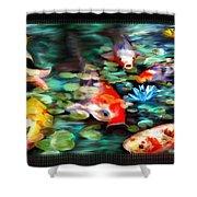 Koi Paradise Shower Curtain by Susan Kinney