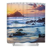 Koki Beach Harmony Shower Curtain by Inge Johnsson