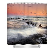 Koloa Dusk Shower Curtain by Mike  Dawson