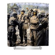 Korean War: Prisoners Shower Curtain by Granger