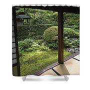 Koto-in Zen Temple Side Garden - Kyoto Japan Shower Curtain by Daniel Hagerman