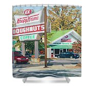 Krispy Kreme At Daytime Shower Curtain by Tommy Midyette