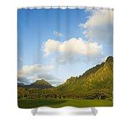 Kualoa Ranch Shower Curtain by Dana Edmunds - Printscapes