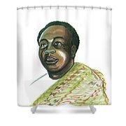Kwame Nkrumah Shower Curtain by Emmanuel Baliyanga