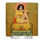 la Matadora Shower Curtain by Cinema Photography