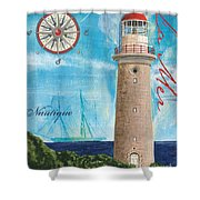 La Mer Shower Curtain by Debbie DeWitt