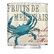 La Mer Shellfish 1 Shower Curtain by Debbie DeWitt