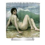 La Vague Shower Curtain by William Adolphe Bouguereau