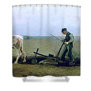 Labourer And Peasant  Shower Curtain by Vincent van Gogh