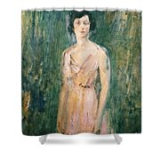 Lady In A Pink Dress Shower Curtain by Ambrose McEvoy