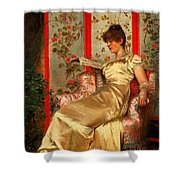 Lady Reading Shower Curtain by Joseph Frederick Charles Soulacroix