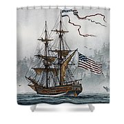 Lady Washington Shower Curtain by James Williamson