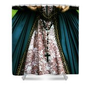 Lady With Rosary Shower Curtain by Joana Kruse